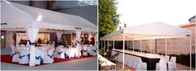 montar una carpa en el jardin para una boda o comunion