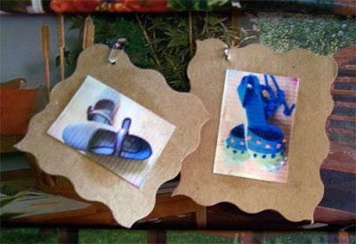 como decorar cajas de zapatos con fotos
