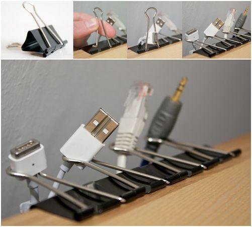 c mo organizar los cables del escritorio. Black Bedroom Furniture Sets. Home Design Ideas
