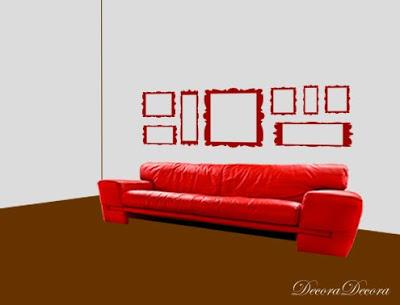 colgar cuadros en un sofa