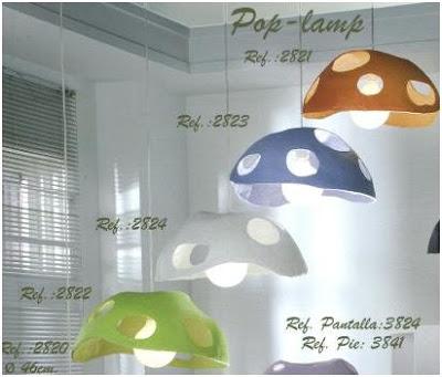 lamparas decorativas en forma de setas