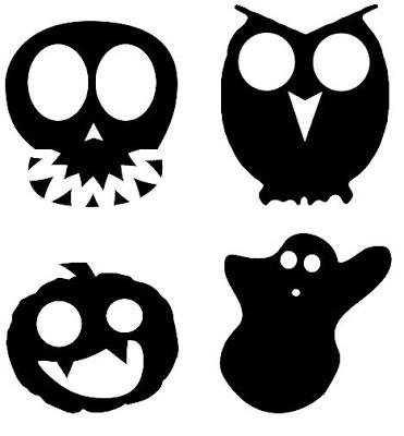 Siluetas recortables y Decorativas para Halloween
