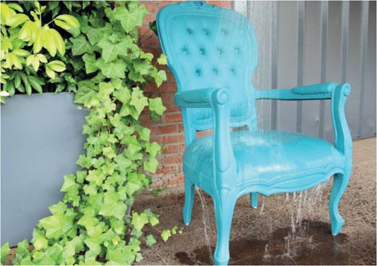 Muebles que se pueden mojar.