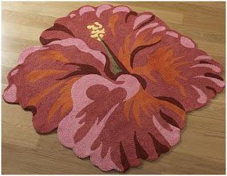 alfombra con forma de flor