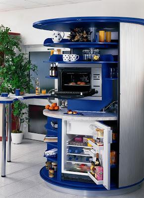 cocina compacta giratoria