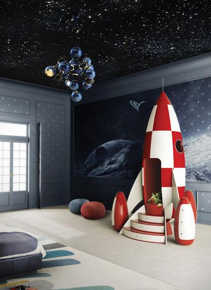 Desde el cuarto infantil... ¡¡A la luna en cohete!!