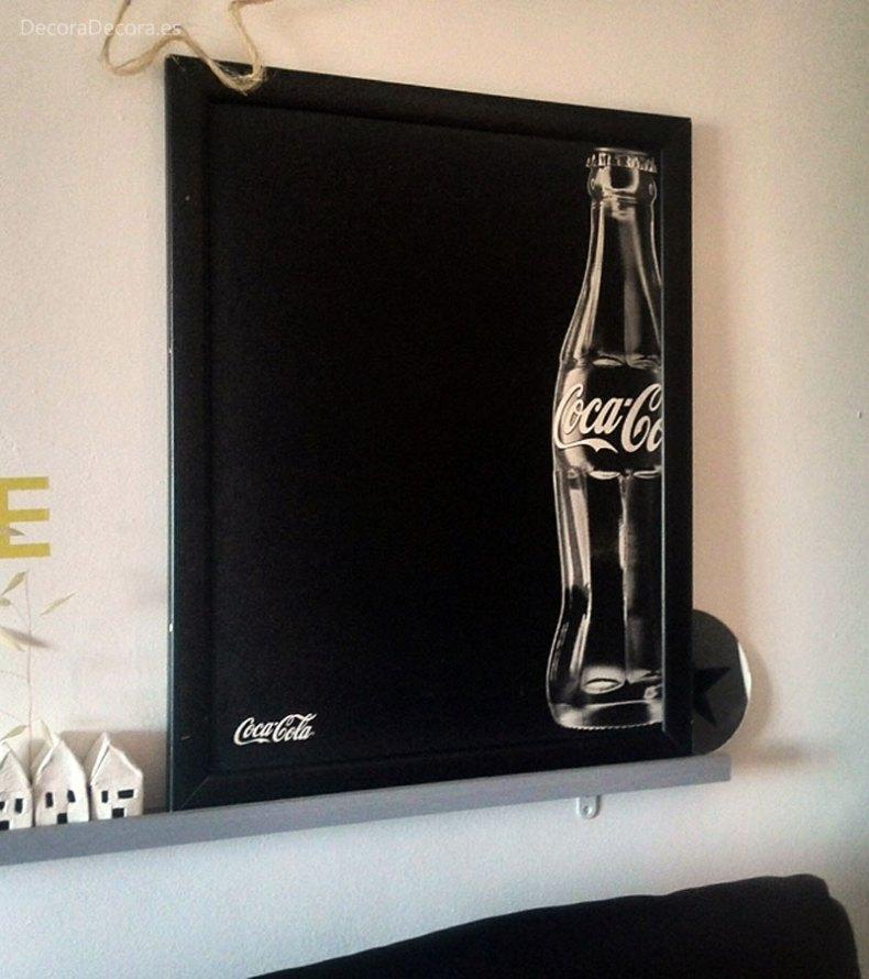 Pizarra de Coca-Cola para decorar.