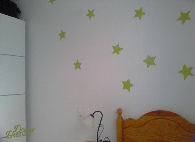 Estrellas en la pared.