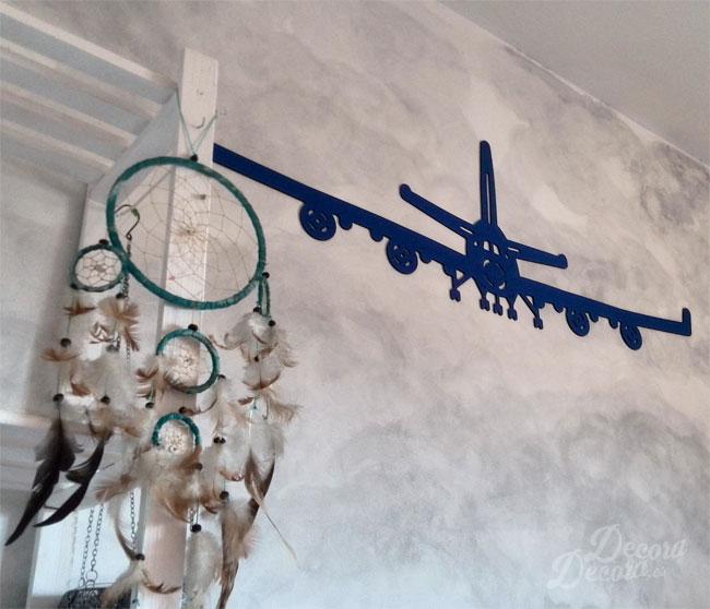 Avión decoración pared