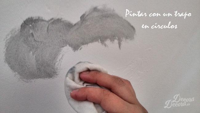 Técnica para pintar nubes