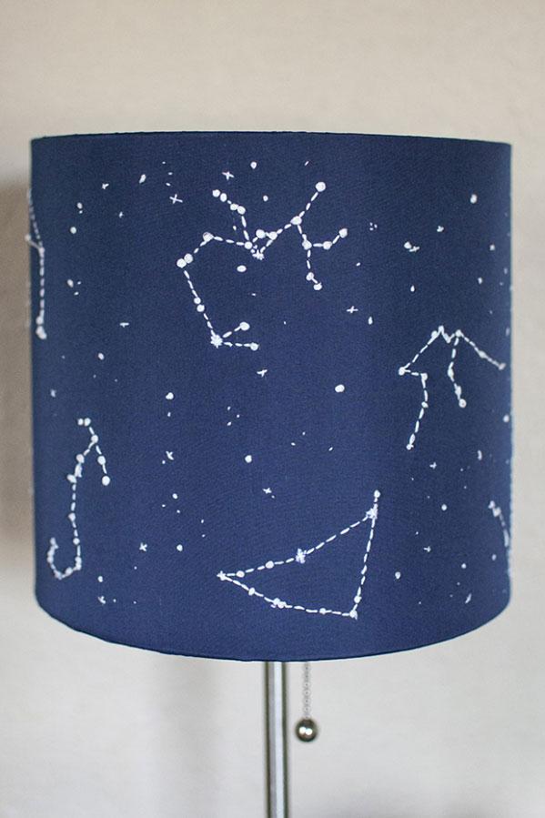 Lámpara constelaciones hecha a mano