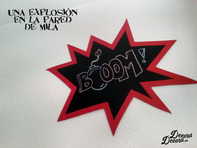 Decorar con una explosión