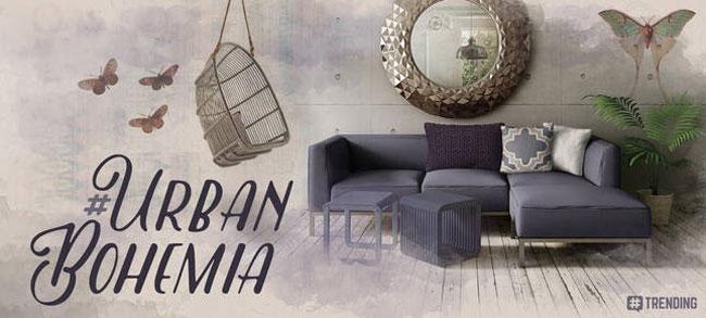 Decoración urbana y bohemia