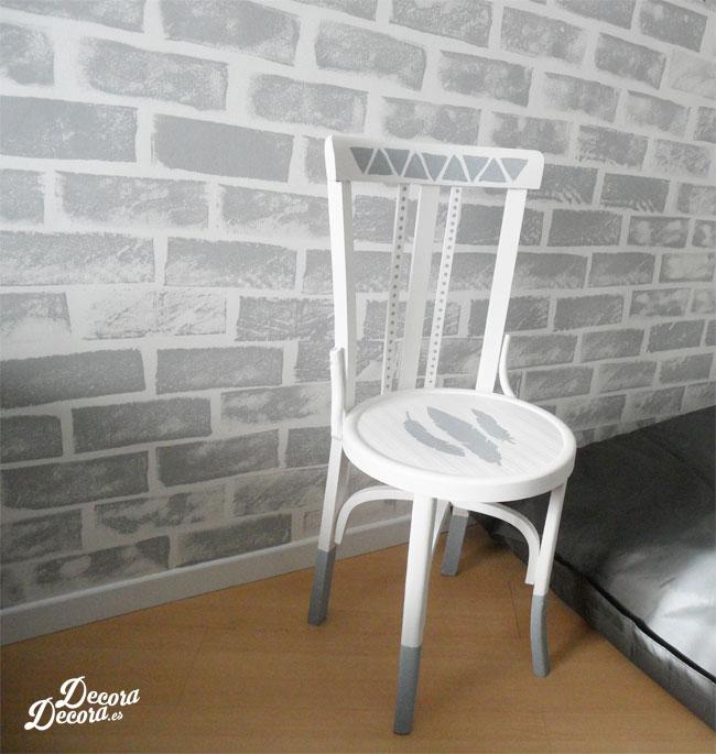 Decorar una silla con pintura - Pintar chalk paint ...