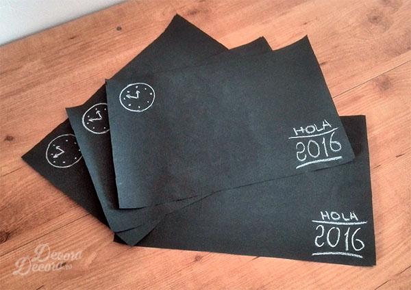 Decoración de la mesa de Fin de Año