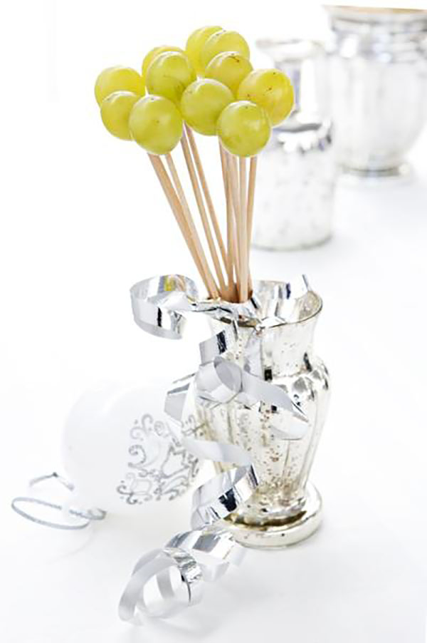 Ideas para servir las uvas en Nochevieja