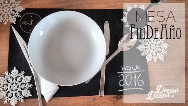 Decoración mesa de Fin de Año