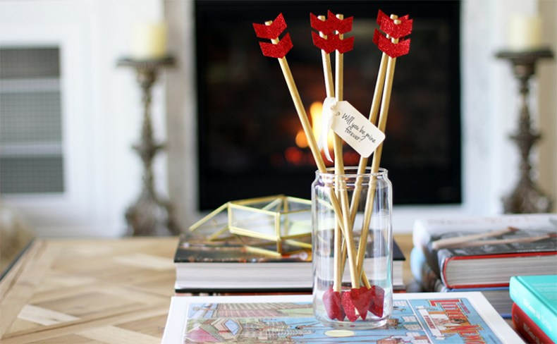 Flechas para decoración de San Valentín