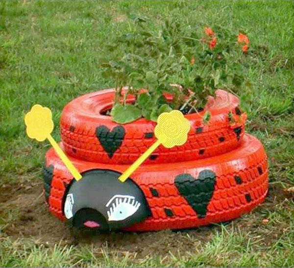 jardn ruedas - Decorar Un Jardin