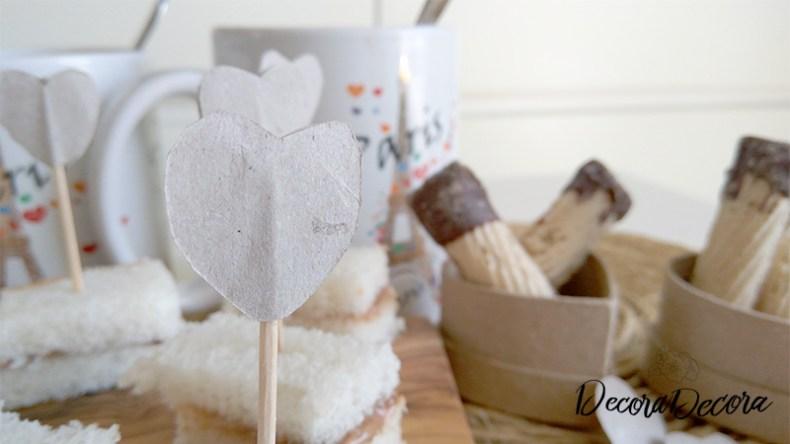 Decoración desayuno San Valentín