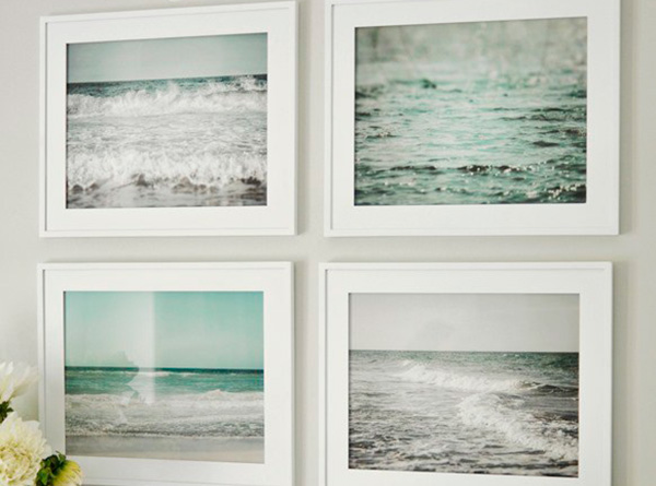 Decorar con fotografías de playas