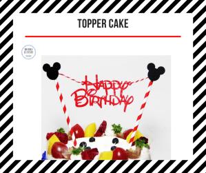 topper cake topolino