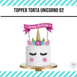 decorazione torta unicorno