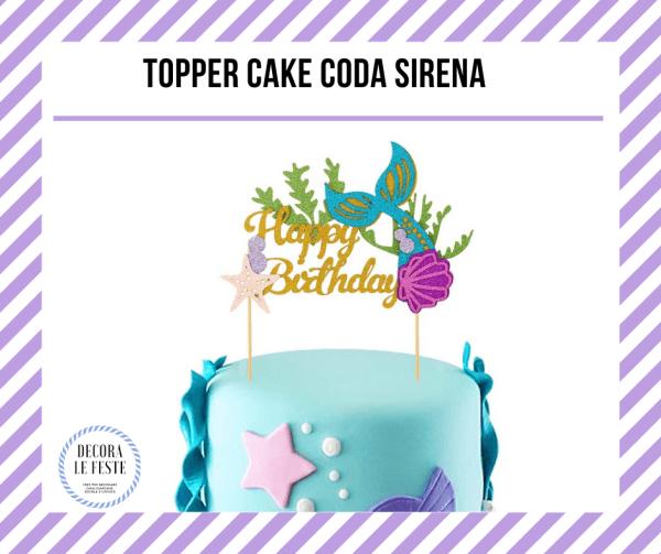 topper cake sirena