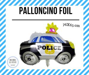 palloncino macchina polizia