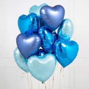 palloncino cuore blu