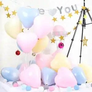 palloncini cuore pastello
