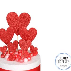 decorazione torta san valentino cuori