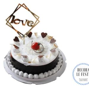decorazione torta san valentino oro