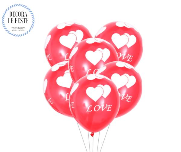 palloncini cuore, amore