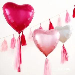 palloncino viola cuore