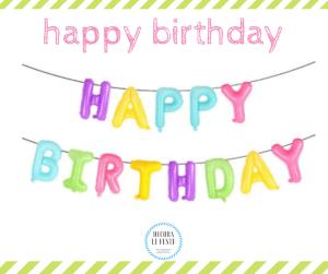 festone happy birthday