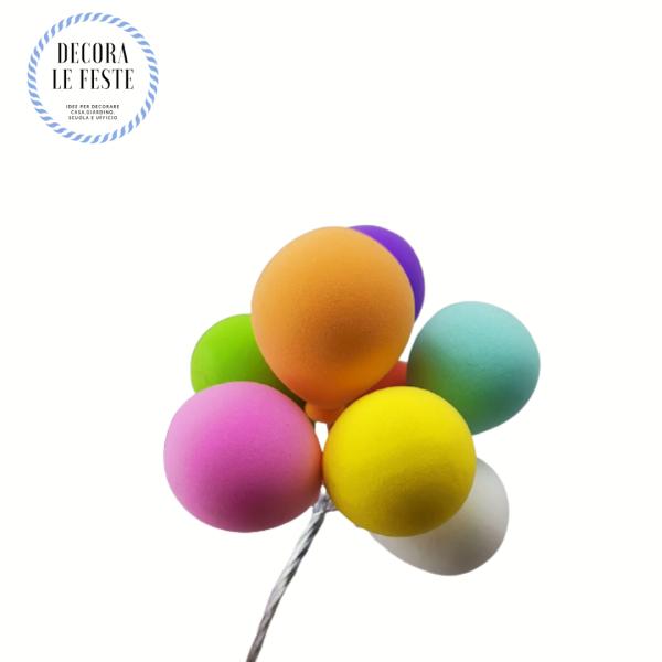 decorazione torta palloncini colorati