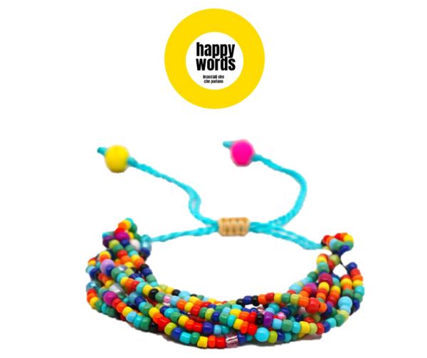 bracciale perline multicolor