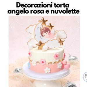 decorazione torta angioletto rosa