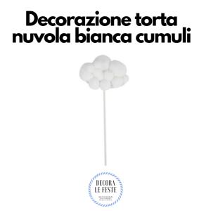 decorazione torta nuvola