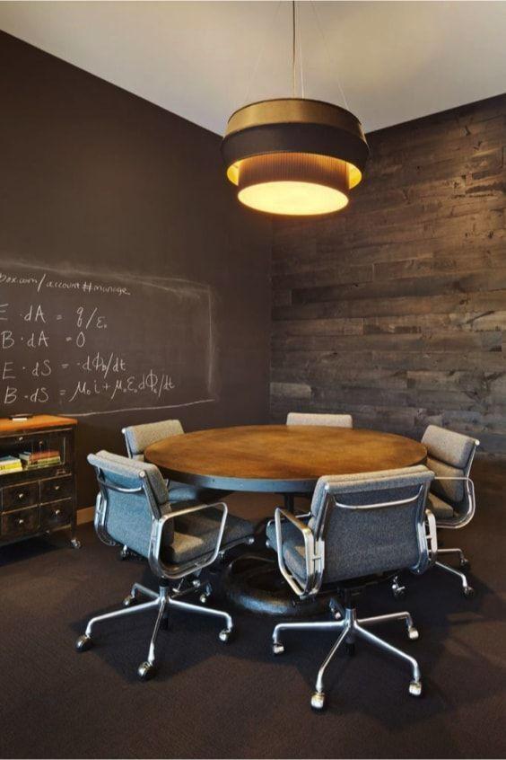 mesa redonda industrial de oficina