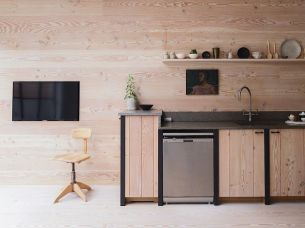 TV on the kitchen