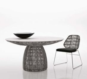 Crinoline table and chair for BBItalia