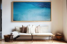 Oversize blue painting