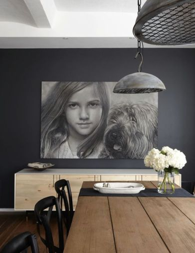 B&W oversize portrait