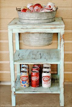 9. Recycled DIY drink station