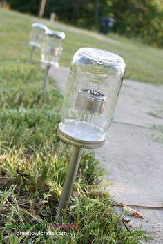 7. Upcycled solar lights with Mason Jars