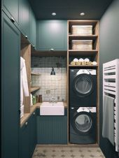 Home-Designing.com: stylish laundry room