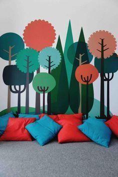Vinilos creando un bosque