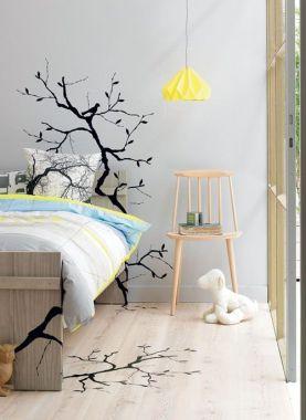 Vinilo pegado sobre muebles, pared y suelo